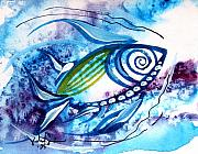Ink Art Framed Prints - WTFish 4003 Framed Print by J Vincent Scarpace
