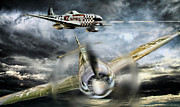P-51 Art - Wulf Hunt by Peter Chilelli