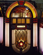 Singles Framed Prints - Wurlitzer Jukebox, Model 1017 Framed Print by Everett