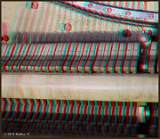 Rudolph Framed Prints - Wurlitzer Piano - Use Red-Cyan 3D glasses Framed Print by Brian Wallace
