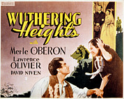 Lobbycard Photo Framed Prints - Wuthering Heights, Laurence Olivier Framed Print by Everett