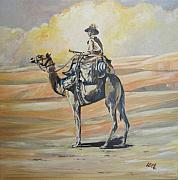 Wwi Painting Originals - WW1 Light Horse Cameleer by Leonie Bell