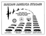 United States Propaganda Art - WW2 Airplane Supply Cartoon  by War Is Hell Store