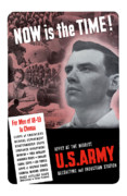 United States Government Prints - WW2 Army Recruiting Poster Print by War Is Hell Store