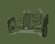 Hot Rod Digital Art Posters - WW2 Rod Poster by Jeremy Lacy