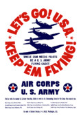 World War Two Posters - WW2 US Army Air Corps Poster by War Is Hell Store