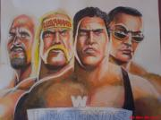 Hip Drawings - Wwe Legends by Sandeep Kumar Sahota