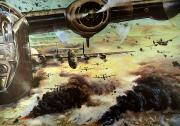 Raid Art - Wwii: B-24 Air Raid, 1944 by Granger