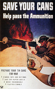 Home Front Prints - Wwii: Save Cans Poster Print by Granger