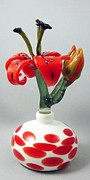 Flamework Sculpture Glass Art Originals - Www.nudibranchartglass.com by Laurie Young