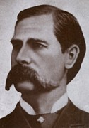 Mustaches Metal Prints - Wyatt Earp 1848-1929, Legendary Western Metal Print by Everett