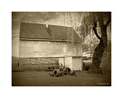 Old Mills Framed Prints - Wye Mill - Sepia Framed Print by Brian Wallace