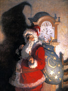Santa Claus Prints - Wyeth: Old Kris (kringle) Print by Granger