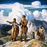 Rocky Paintings - Wyeth: Sacajawea by Granger