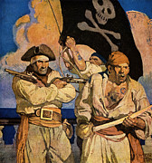 N.C. Wyeth Posters - Wyeth: Treasure Island Poster by Granger
