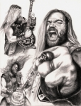 Heavy Metal Drawings - Wylde Man by Kathleen Kelly Thompson
