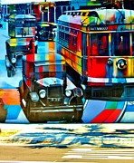 Rene Triay Photography Posters - Wynwood Trolley Poster by Rene Triay Photography
