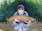 Brown Trout Originals - Wyoming Brown Trout by Raymond Schuster