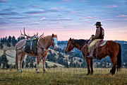 Humans Posters - Wyoming Dawn Poster by Inge Johnsson