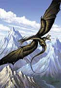 Fantasy Digital Art Metal Prints - Wyvern Metal Print by Stanley Morrison