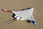 X Wing Prints - X-48b Blended Wing Body Unmanned Aerial Print by Stocktrek Images