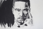 Malcolm X Prints - X Print by Brandon Coley