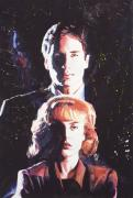 Television Paintings - X-Files by Ken Meyer jr