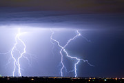 Lightning Bolt Pictures Prints - X In The Sky Print by James Bo Insogna