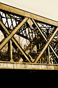 Train Bridge Framed Prints - X-ing Framed Print by Luke Moore