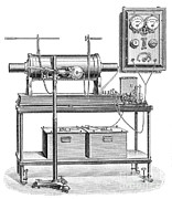 Radiogram Prints - X-ray Equipment With Operating Batteries Print by Science Source