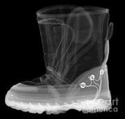 Emitting Posters - X-ray Of A Childs Light-up Boot Poster by Ted Kinsman