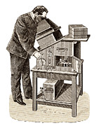 Smuggling Photo Prints - X-ray Viewing Machine, 1895 Print by Sheila Terry