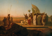 Ancient Ruins Prints - Xerxes at the Hellespont Print by Jean Adrien Guignet