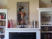 Wall Sculpture Reliefs - Xhosa Woman installed by Jeff  Williams