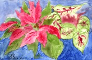 Xmas Painting Originals - Xmas Poisentia by Gloria Couture