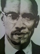 Malcolm X Prints - XObama Print by Jane Nwagbo