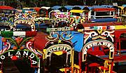 Canals Framed Prints - Xochimilco Framed Print by Juergen Weiss