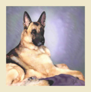 German Shepard Digital Art - Xohzer by Michelle Guillot