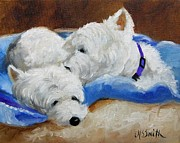 Westies Prints - Xoxoxo Print by Mary Sparrow Smith