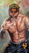 Wrestling Painting Originals - Xtrem Tiger by Nancy Almazan