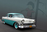 Observer Prints - XXX 56 Chev Print by Bill Dutting