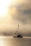 Yacht In Mist Print by Sheila Smart