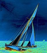 Yacht Shamrock In New York Harbor 1895 Print by Padre Art