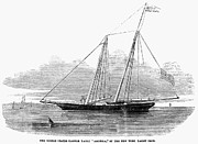 1851 Photos - Yachting, 1851 by Granger