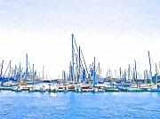 Jan Hattingh Prints - Yachts Simon Print by Jan Hattingh