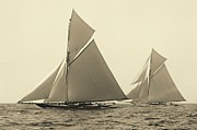 Padre Art Photos - Yachts Valkyrie II and Vigilant Race for Americas Cup 1893 by Padre Art