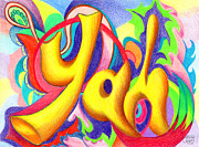 Lord Drawings - Yah by Nancy Cupp