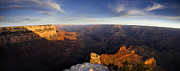 Grand Canyon Photo Metal Prints - Yaki Point Panorama Metal Print by Andrew Soundarajan