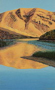 Canyons Painting Prints - Yakima Canyon Print by Laurie Stewart