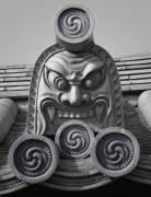 Kansai Posters - Yakushiji Temple Roof Tile Guardian - Nara Japan Poster by Daniel Hagerman